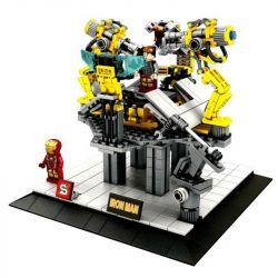 SHENG YUAN SY SY825 Xếp hình kiểu Lego SUPER HEROES IRON MAN Gantry Machine Iron Man Ring Unloading Station Dàn Máy Của Người Sắt 527 khối