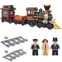 Winner 5091 (NOT Lego Trains Train ) Xếp hình Tàu Hỏa Thành Phố 473 khối