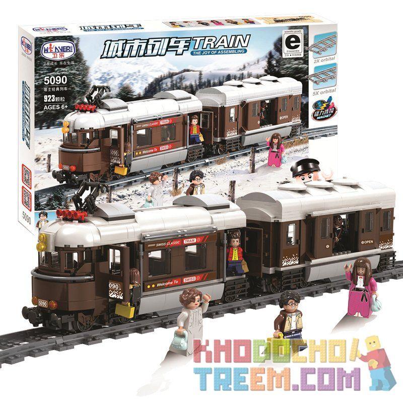 Winner 5090 Xếp hình kiểu Lego TRAINS TRAIN Tàu điện chở khách 2 toa 523 khối