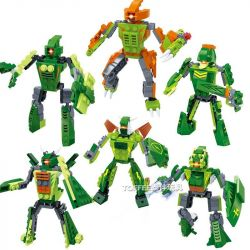GUDI 8705 8705A 8705B 8705C 8705D 8705E 8705F Xếp hình kiểu Lego POWER RANGERS SUPER SENTAI Super Sentai khủng long bạo chúa biến hình 6 trong 1 gồm 6 hộp nhỏ 472 khối