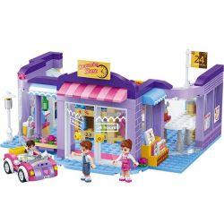 GUDI 9606 Xếp hình kiểu Lego MODERN GIRLS Modern Girls Convenience Store Kris's Convenience Store Cửa Hàng Tiện Lợi Kreis 470 khối
