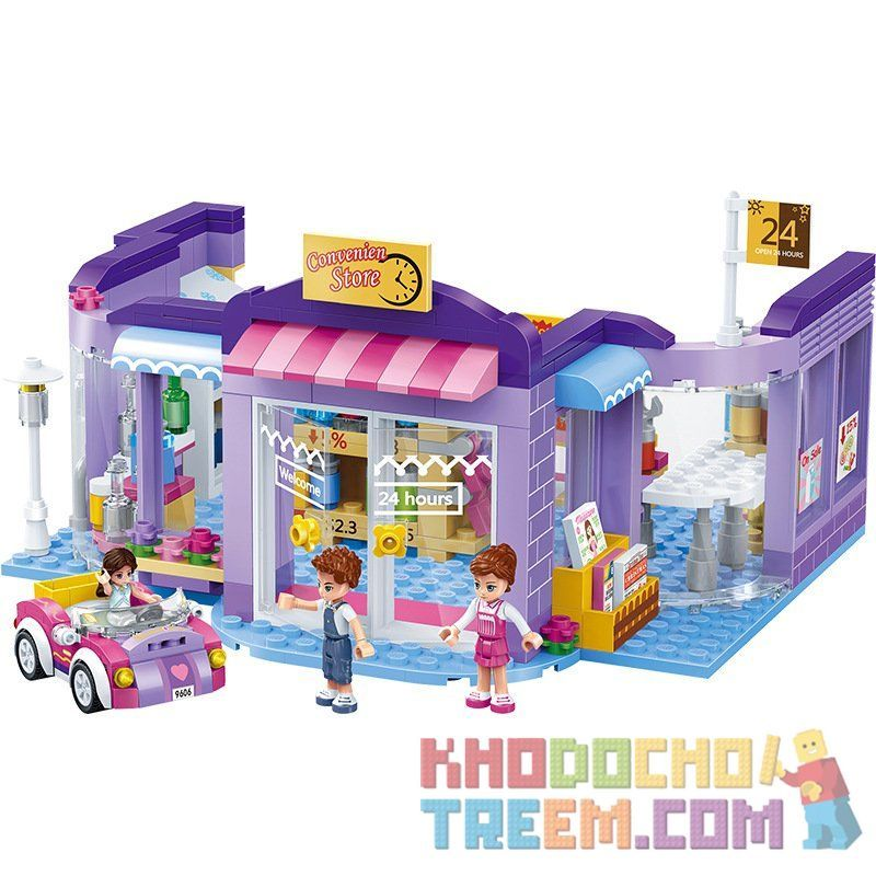 GUDI 9606 Xếp hình kiểu Lego MODERN GIRLS Kreis Convenience Store Cửa hàng tiện lợi Kreis 470 khối
