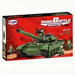 Winner 8101 Xếp hình kiểu Lego TANK BATTLE TankBattle Land War T90A Main Battle Tank Xe Tăng Chiến đấu Chủ Lực T90A 456 khối