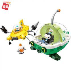Enlighten 3712 Qman 3712 Xếp hình kiểu Lego OCTONAUTS Seabed Small Column Rescue Ship Set Bộ Tàu Cứu Hộ 429 khối