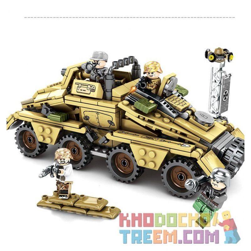 SEMBO 101341 Xếp hình kiểu Lego EMPIRES OF STEEL Empires Of Steel Xe bọc thép chiến đấu 395 khối