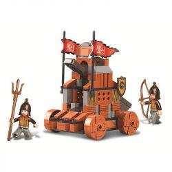 SLUBAN M38-B0261 B0261 0261 M38B0261 38-B0261 Xếp hình kiểu Lego CASTLE Tam Quốc: Máy bắn đá 131 khối