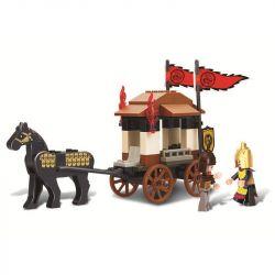 Sluban M38-B0259 (NOT Lego Castle ) Xếp hình Tam Quốc: Xe Ngựa Của Lưu Bị 74 khối
