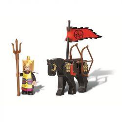 Sluban M38-B0258 (NOT Lego Castle Three Kingdoms ) Xếp hình Ngựa Chiến Của Lưu Bị 13 khối