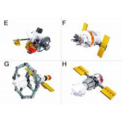SLUBAN M38-B0731 B0731 0731 M38B0731 38-B0731 Xếp hình kiểu Lego SPACE Space tàu không gian kết hợp bởi máy bay 510 khối