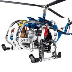 SHENG YUAN SY 7004 Xếp hình kiểu Lego TECHNIC PlayerUnknown's Battlegrounds Chicken Fighting Helicopter Pull Back Trực Thăng Chiến đấu Trong Game Battlegrounds 251 khối