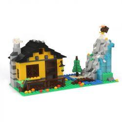 WANGE 3311 Xếp hình kiểu Lego CITY Architecture Deep Mountain Hut Ngôi Nhà Trên Núi 389 khối