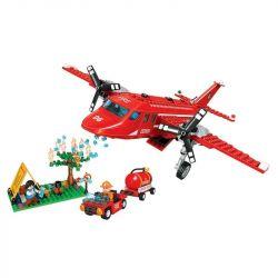 Winner 7024 Xếp hình kiểu Lego FIRE RESCURE Fire Brigade Fire Special Service Team Fire Plane Máy Bay Cứu Hỏa 388 khối
