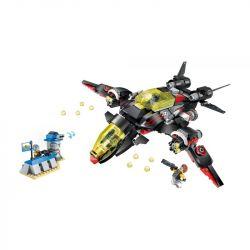 Enlighten 2716 Qman 2716 Xếp hình kiểu Lego THE HIGH-TECH ERA Technology Era I Black Lightning Bomber Máy Bay Ném Bom Tia Chớp đen 381 khối