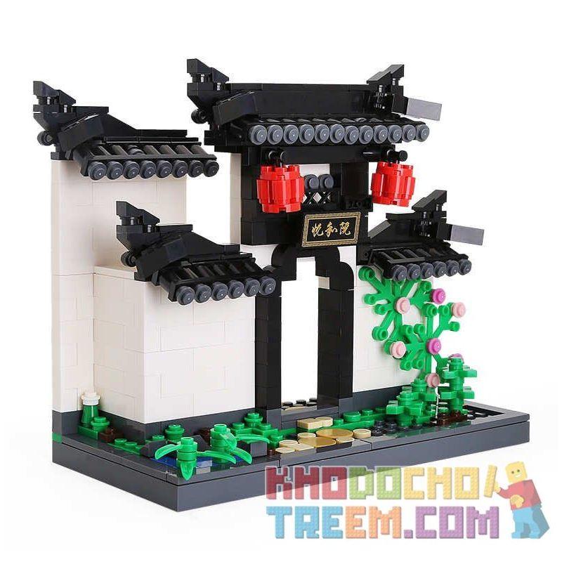 DR.LUCK 3314 WANGE 3314 Xếp hình kiểu Lego CREATOR Huizhou Architecture-Arch 381 khối
