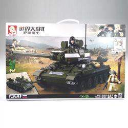 SLUBAN M38-B0689 B0689 0689 M38B0689 38-B0689 Xếp hình kiểu Lego WORLD WAR II T34\85 Medium Tank Xe tăng t34 Hạng Trung 387 khối