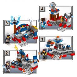 LELE 33057 33057-1 33057-2 33057-3 33057-4 Xếp hình kiểu Lego MINECRAFT MY WORLD Star Space Battle 4 Trận Chiến Không Gian Giữa Các Vì Sao 4 gồm 4 hộp nhỏ 386 khối
