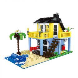 WANGE 3310 Xếp hình kiểu Lego CITY Seaview Holiday Home Architecture Sea View Holiday Home Nhà Nghỉ Mát Nhìn Ra Biển 386 khối