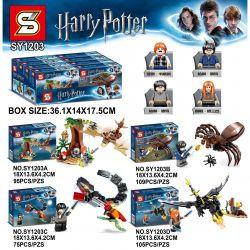 SHENG YUAN SY 1203A 1203B 1203C 1203D SY1203A 1203A SY1203B 1203B SY1203C 1203C SY1203D 1203D Xếp hình kiểu Lego HARRY POTTER Harry Potter quái vật rồng đen và rắn khổng lồ gồm 8 hộp nhỏ 384 khối