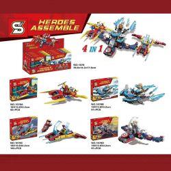 Sheng Yuan 1078 (NOT Lego Super Heroes Heroes Assemble ) Xếp hình 4 Máy Bay Siêu Anh Hùng gồm 4 hộp nhỏ 383 khối