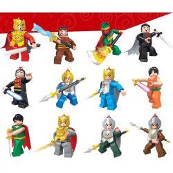JIE STAR 82001 Xếp hình kiểu Lego CLASSIC Romance Of The Three Kingdoms 12 Vị Tướng Tam quốc diễn nghĩa 363 khối