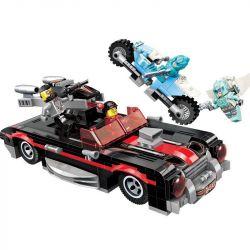 Enlighten 3402 Qman 3402 Xếp hình kiểu Lego POWER SQUAD Canada Shadow Super Run Siêu Xe Bóng 371 khối