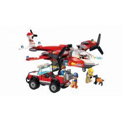 Enlighten 2805 Qman 2805 Xếp hình kiểu Lego FIRE RESCURE FireRescue Flame Pioneer Forest Search And Rescue Team Đội Tìm Kiếm Cứu Nạn Rừng 369 khối