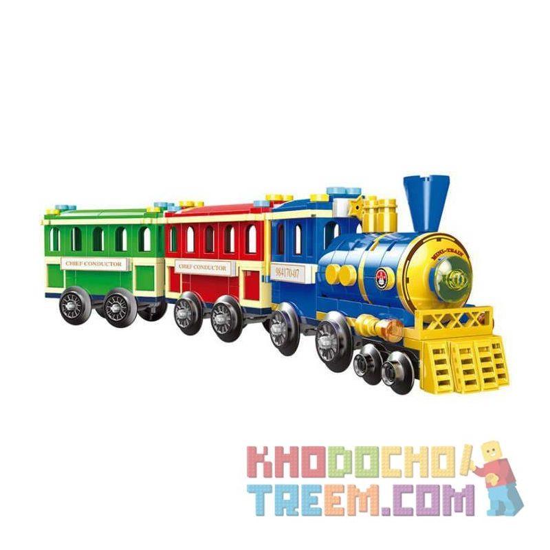 XINGBAO XB-01112 01112 XB01112 Xếp hình kiểu Lego COLORFUL WORLD Sightseeing Train Tàu tham quan 369 khối