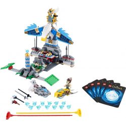 Bela 10059 Lari 10059 Xếp hình kiểu Lego LEGENDS OF CHIMA Eagles' Castle Speedorz Qigong Legend Ponkey Castle Lâu đài đại Bàng 369 khối