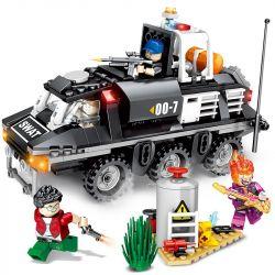 SEMBO 102367 Xếp hình kiểu Lego SWAT SPECIAL FORCE Black Eagle Armochemical Carbon Xe Bọc Thép Hóa Học 368 khối