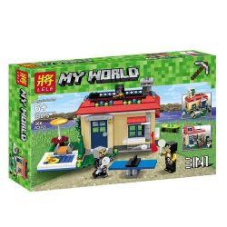 LELE 33076 Xếp hình kiểu Lego MINECRAFT MY WORLD Modern Single-family 3in1 Biệt Thự 1 Gia đình Hiện đại 3IN1 368 khối
