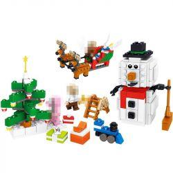 LELE 33258 Xếp hình kiểu Lego MINECRAFT My World Santa And Snowman Ông Già Noel Và Người Tuyết 368 khối