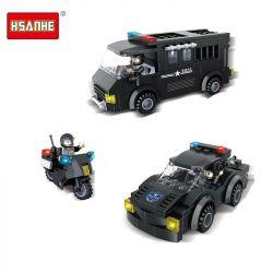 HSANHE 6513 Xếp hình kiểu Lego SWAT SPECIAL FORCE SWAT Escort Fleet Đội tàu hộ tống SWAT 359 khối