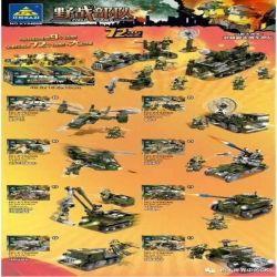 Kazi KY84068 84068 Xếp hình kiểu Lego FIELD ARMY Field Troops Armed Forces, 8 Large Fittings 72 Lực Lượng Tại Hiện Trường 1053 khối