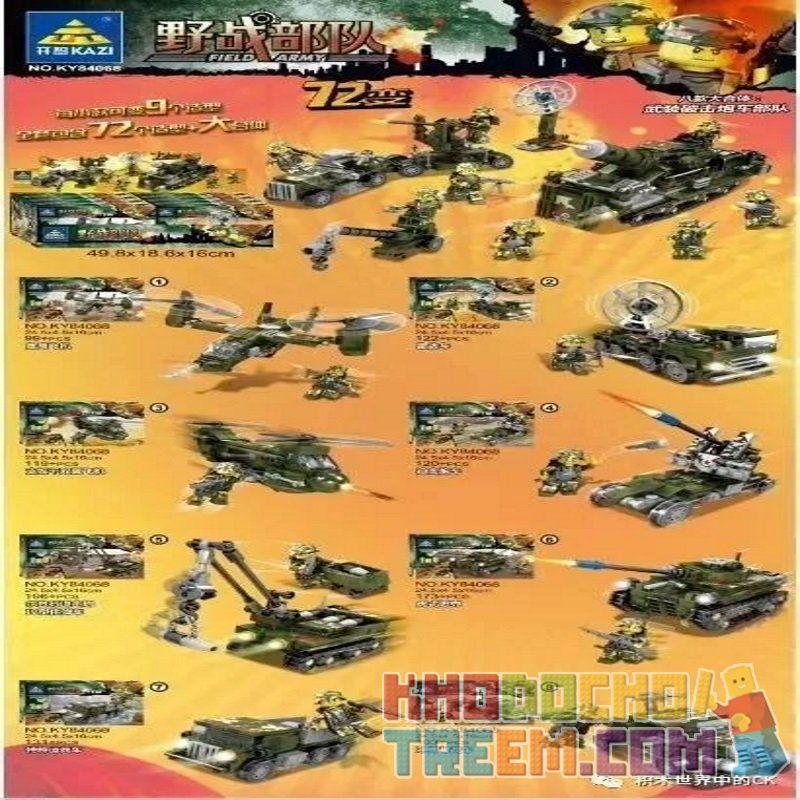 Kazi KY84068 84068 Xếp hình kiểu Lego FIELD ARMY Field Army Lực lượng tại hiện trường 1053 khối