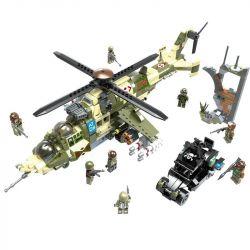 CAYI 2011 Xếp hình kiểu Lego NUCLEAR WAR Nuclear War Mil Mi-24 Hind Nuclear Transition Crisis Fema-24 Armed Helicopter Trực Thăng Quân Sự Và Xe Chiến đấu Hạt Nhân 891 khối
