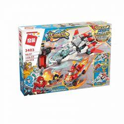 Enlighten 3403 Qman 3403 KEEPPLEY 3403 Xếp hình kiểu Lego POWER SQUAD Dazzling Team Blast Jet ô Tô Và Máy Bay Phản Lực 356 khối