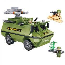 HSANHE 6458 Xếp hình kiểu Lego CLASSIC Anti-Aircraft Missile Vehicle Phương tiện tên lửa phòng không 355 khối
