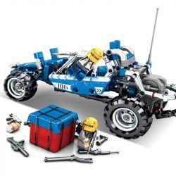 Sheng Yuan 7052 (NOT Lego Battle Royale Blue Buggy ) Xếp hình Xe Dã Chiến Màu Xanh Dương Và Thính Đỏ 355 khối