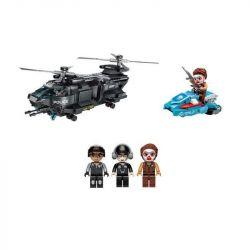 Enlighten 1928 Qman 1928 KEEPPLEY 1928 Xếp hình kiểu Lego Battle Force Police Series Operation Flying Eagle Máy Bay Trực Thăng Chiến đấu 473 khối