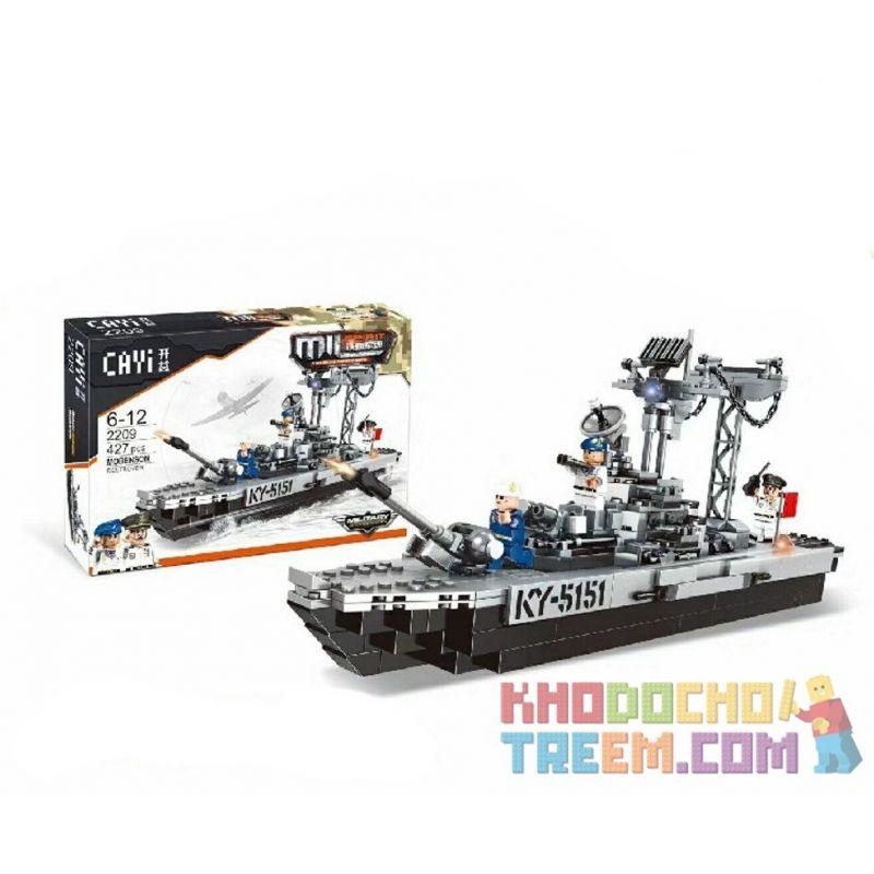 CAYI 2209 Xếp hình kiểu Lego IRON BLOOD MILITARY SPIRIT Iron Blood Military Spirit Mobenson Destroyer Tasting Mogbensen Destroyer Tàu Chiến Phòng Thủ Máy Bay 427 khối