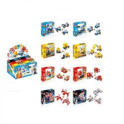 LE DI PIN 16001 Xếp hình kiểu Lego CREATOR 3 IN 1 3合1系列展示盒(8款混装) Hộp hiển thị 3 trong 1 loạt (8 loại hỗn hợp) 867 khối