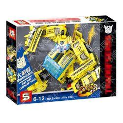 Sheng Yuan 950 SY950 (NOT Lego Transformers Transformers:bumblebee ) Xếp hình Người Máy Biến Hình Thành Xe Đua Màu Vàng 378 khối