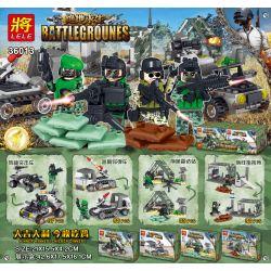 LELE 36013 36013-1 36013-2 36013-3 36013-4 Xếp hình kiểu Lego PUBG BATTLEGROUNDS Battlegrounes Jedi Survival Human Small Scene 4 Bộ Lắp Ráp Với 4 Bộ Bao Gồm Một Xe Tải Bắn Tên Lửa, Một ô Tô Gắn Súng 6