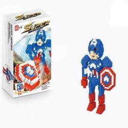 Wise Hawk 2206 Nanoblock Marvel Super Heroes Captain America Xếp hình Đội Trưởng Mỹ 565 khối