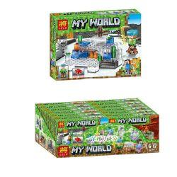 Lele 33264 (NOT Lego Minecraft My World ) Xếp hình Thế Giới Minecraft Làm Bằng Pha Lê Óng Ánh gồm 6 hộp nhỏ 377 khối