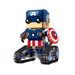 MOULDKING 13041 Xếp hình kiểu Lego WALKING BRICK Walking Brick Pentagram-block Man Square Head Cute Treasure Square Head Captain America đội Trưởng Mỹ điều Khiển Từ Xa 374 khối