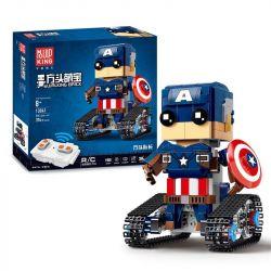 Mouldking 13041 (NOT Lego BrickHeadz Walking Brick:pentagram-Block Man ) Xếp hình Đội Trưởng Mỹ Điều Khiển Từ Xa 374 khối