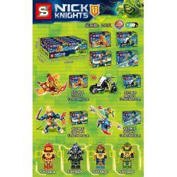 Sheng Yuan 794 SY794 (NOT Lego Nexo Knights Nick Knights ) Xếp hình 4 Chiến Binh Nexo gồm 4 hộp nhỏ 372 khối