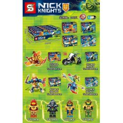 SHENG YUAN SY 794 SY794 SY794-A 794-A SY794-B 794-B SY794-C 794-C SY794-D 794-D Xếp hình kiểu Lego NEXO KNIGHTS Nick Knights Knights 4 Models 4 Chiến Binh Nexo gồm 6 hộp nhỏ 372 khối