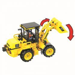 Winner 7077 Xếp hình kiểu Lego CITY Little Engineers Small Engineer Loader Máy Xúc Vàng 371 khối